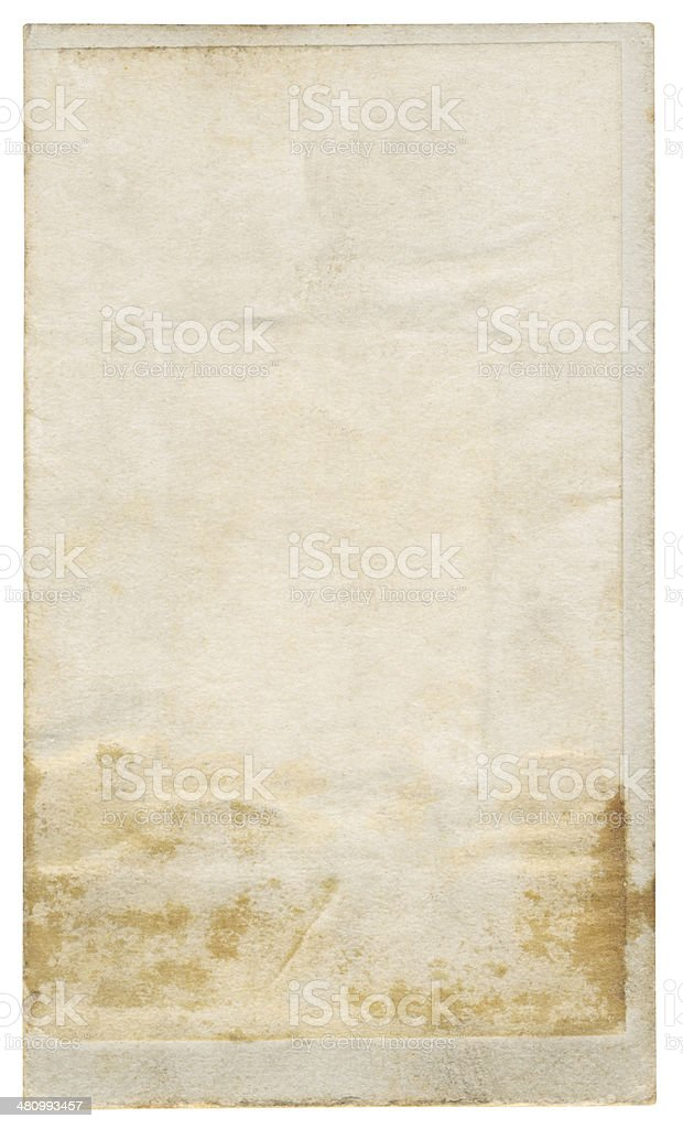 Vintage foto paper isolated (clipping path included) royalty-free stock photo