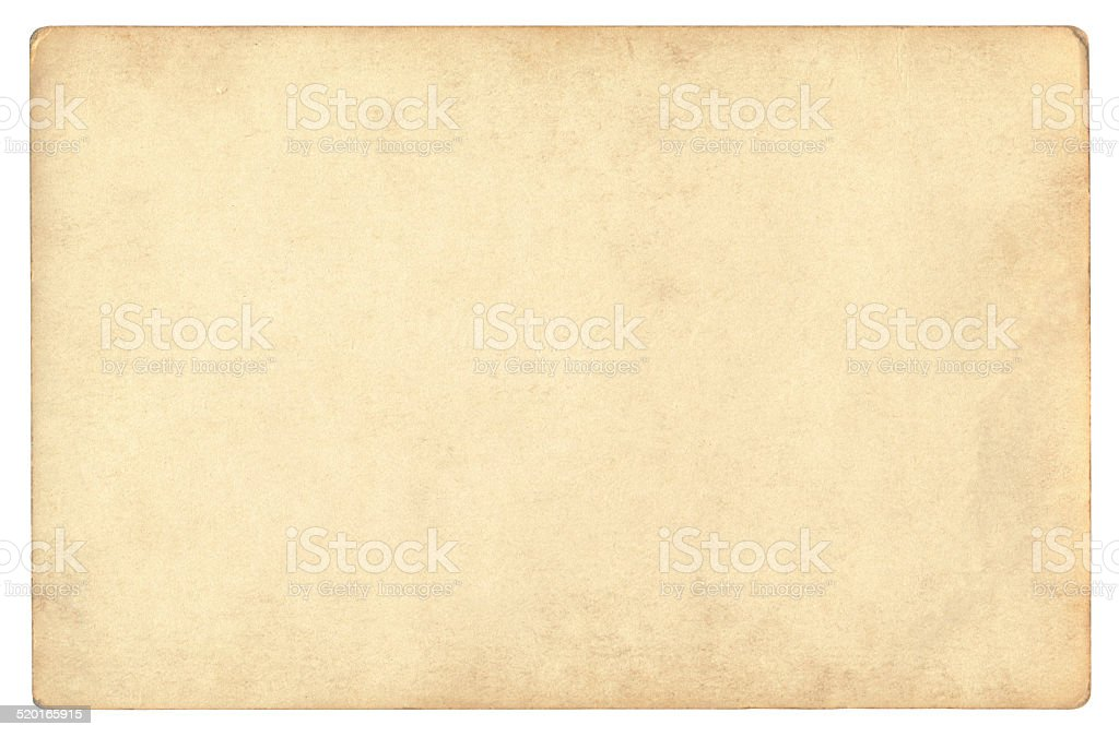Vintage foto paper isolated (clipping path included) stock photo
