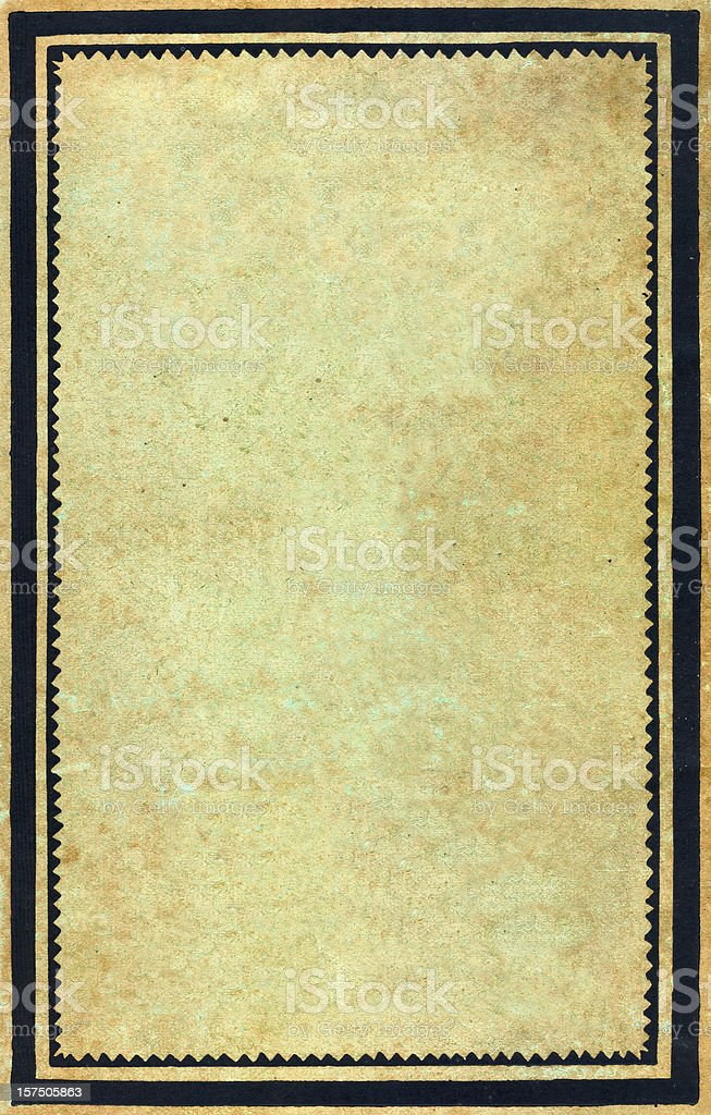Vintage frame and blank paper royalty-free stock photo