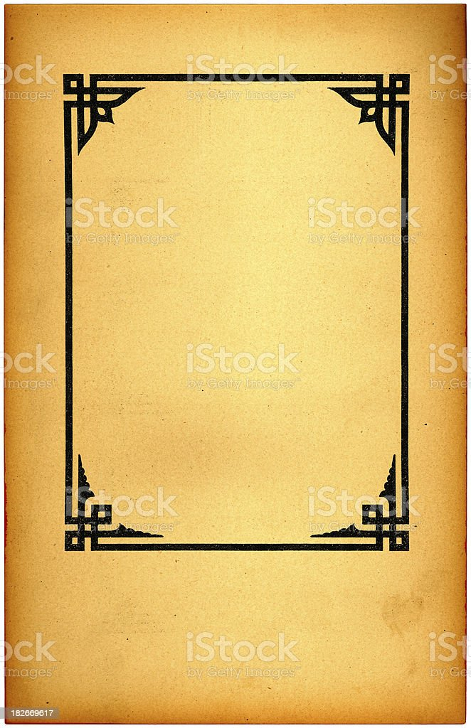vintage frame and paper stock photo
