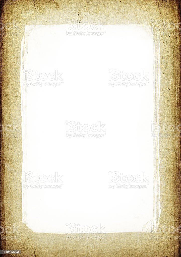 Vintage frame background with isolated center (copyspace) royalty-free stock photo