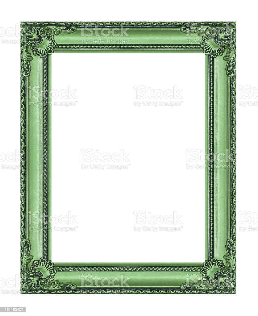 vintage frame isolated on white background, with clipping path royalty-free stock photo