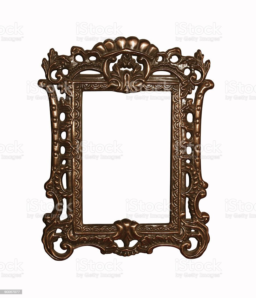 vintage frame with clipping path stock photo