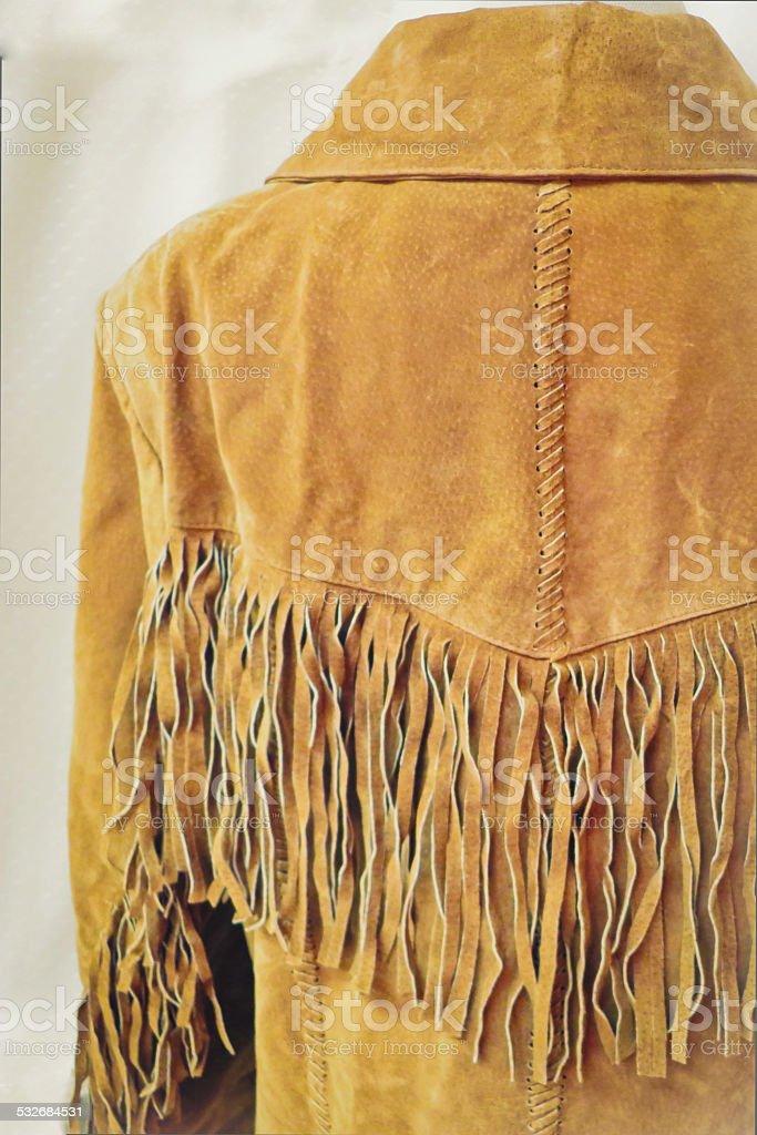 Vintage Fringe Leather Jacket stock photo