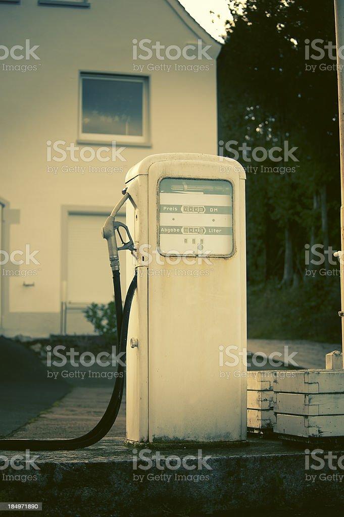 Vintage Fuel Pump stock photo