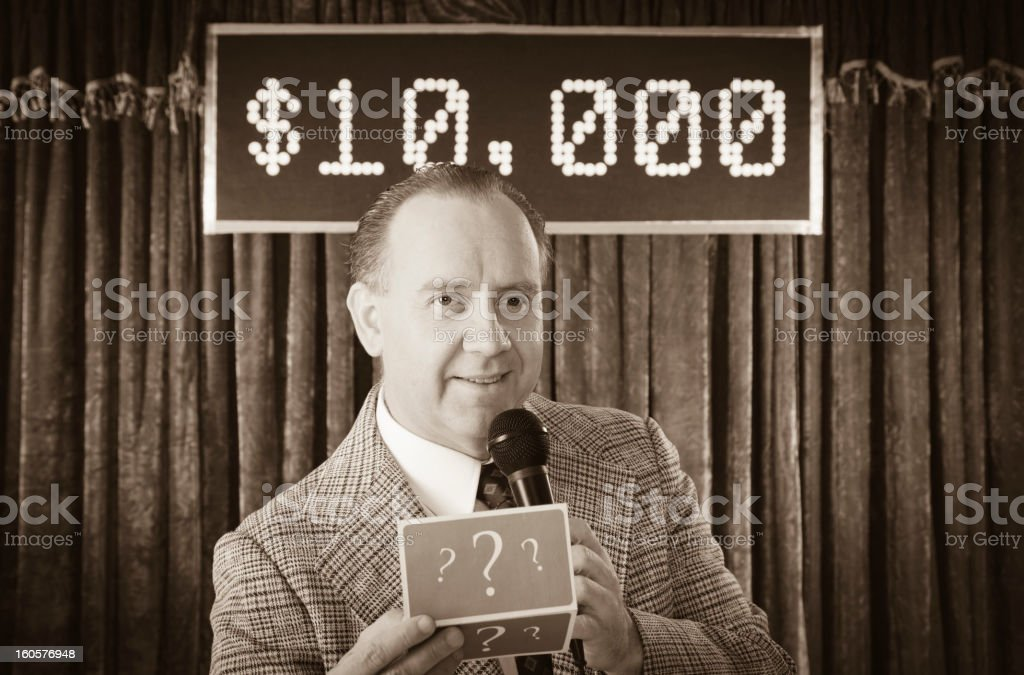 Vintage Game Show stock photo