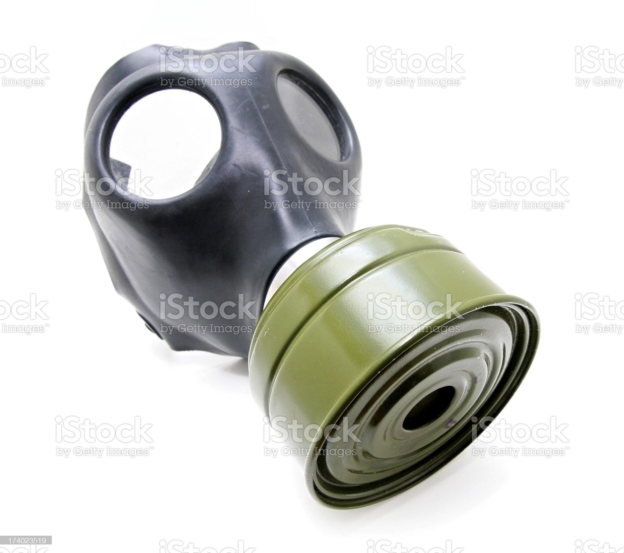 Vintage Gas Mask Isolated on White Background royalty-free stock photo