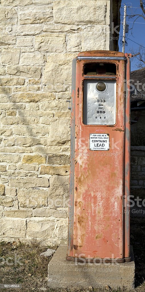 Vintage Gas Pump Old Fashioned royalty-free stock photo
