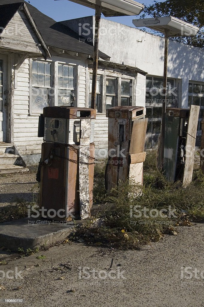 Vintage Gas Pumps royalty-free stock photo