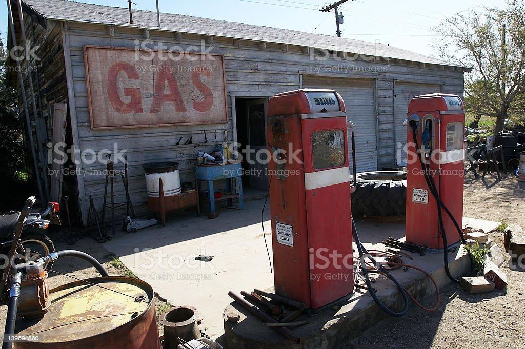 Vintage gas station II stock photo