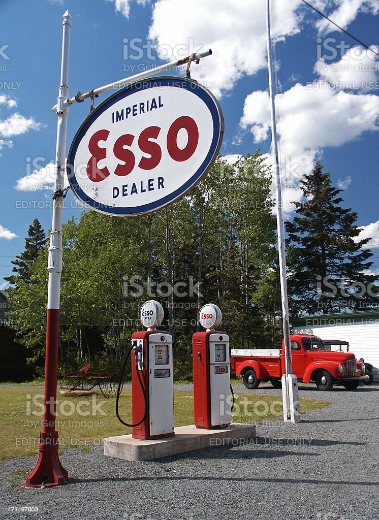 Vintage Gas Station royalty-free stock photo
