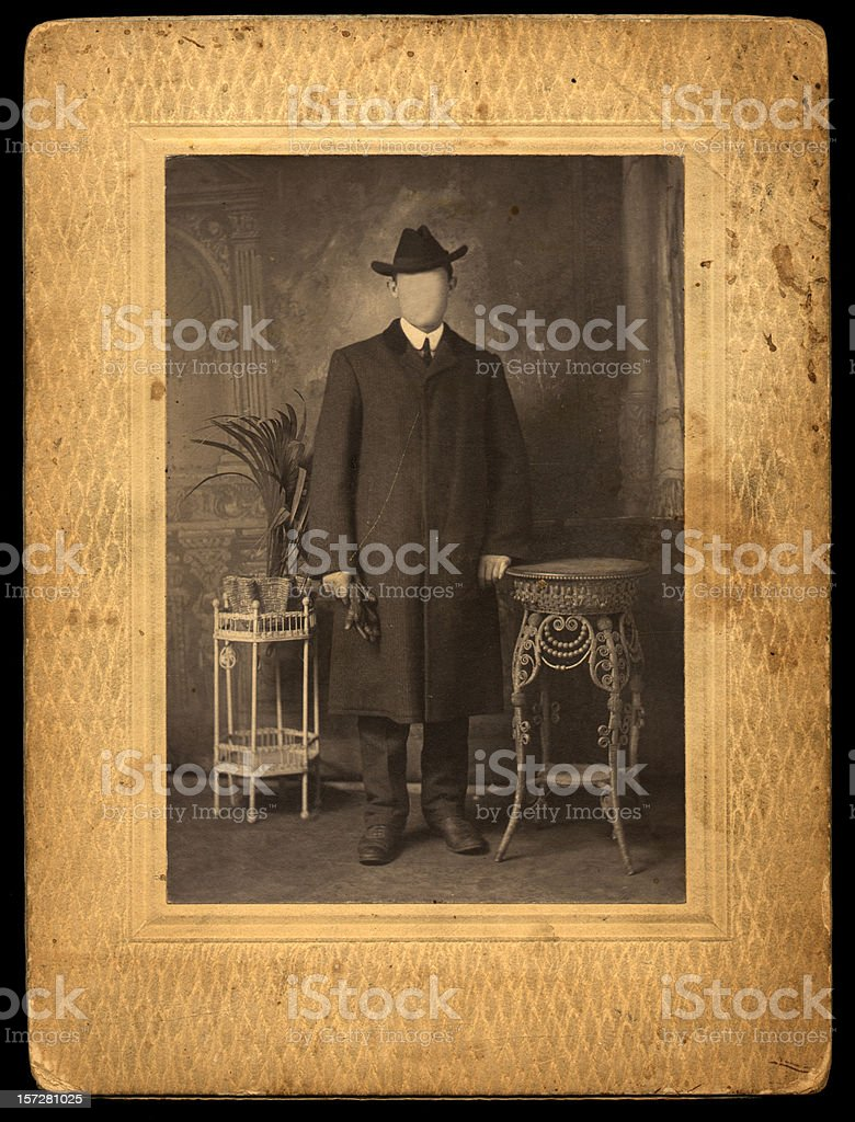 vintage gentleman royalty-free stock photo