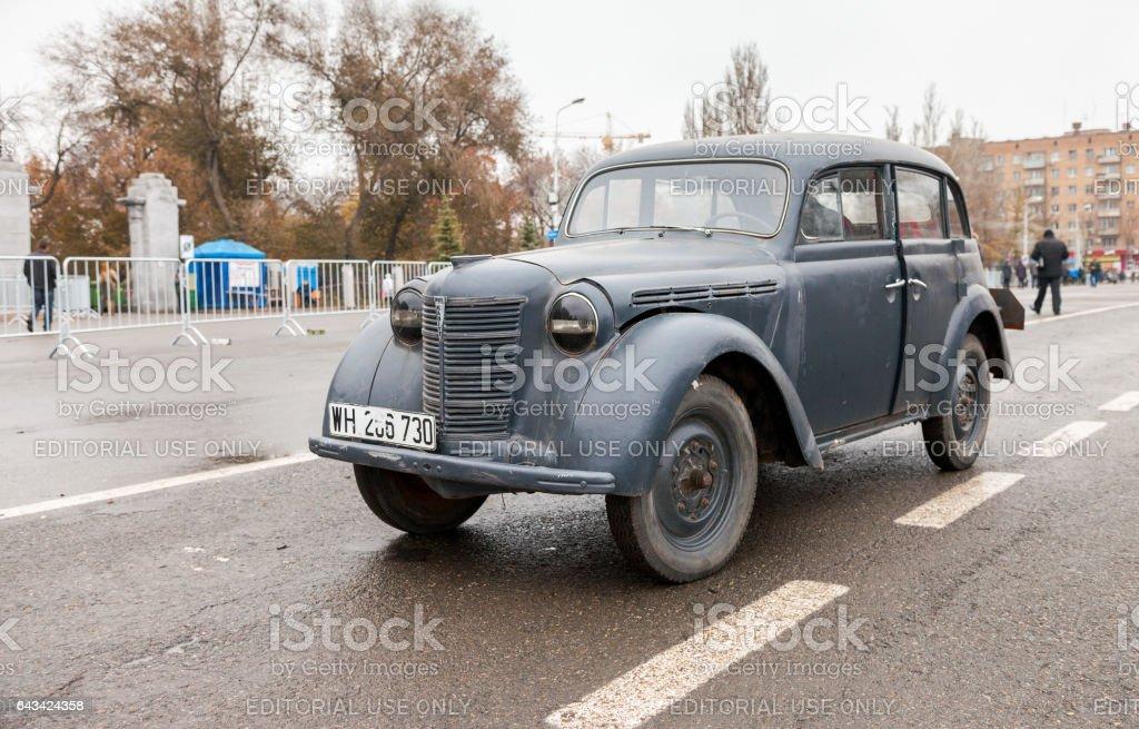 SAMARA, RUSSIA - NOVEMBER 7, 2014: Vintage German car Opel Kadett 1939 on the Kuibyshev Square stock photo