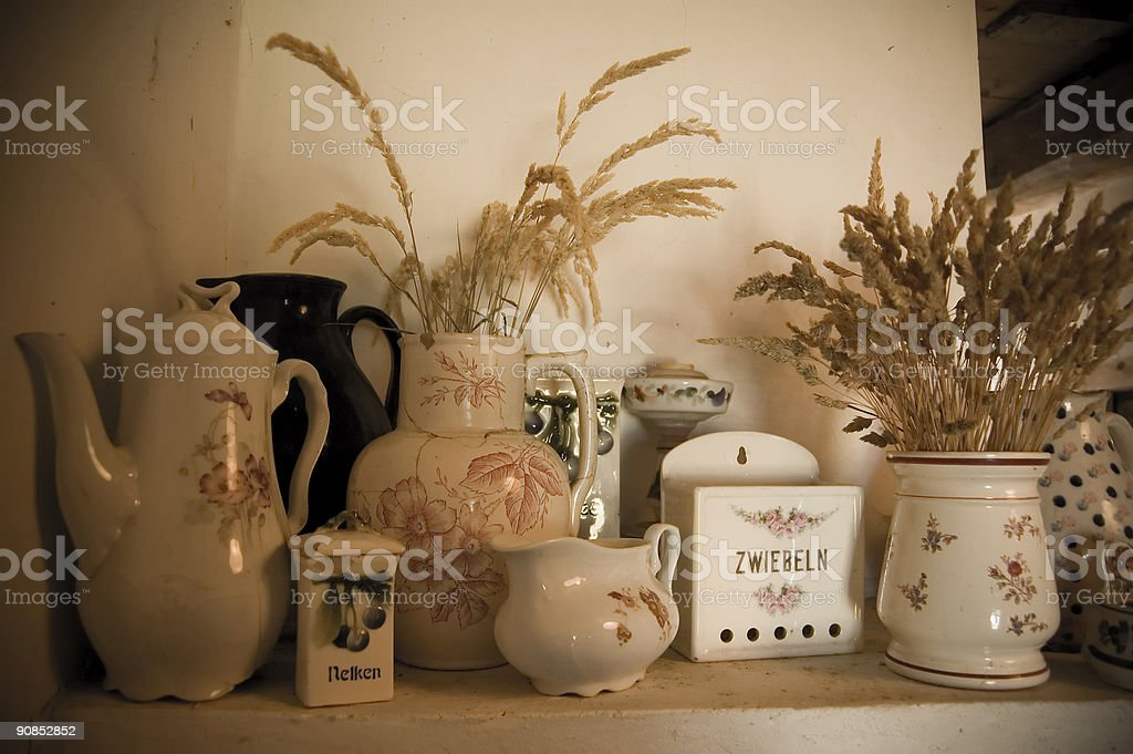 Vintage German Kitchen Utensils royalty-free stock photo