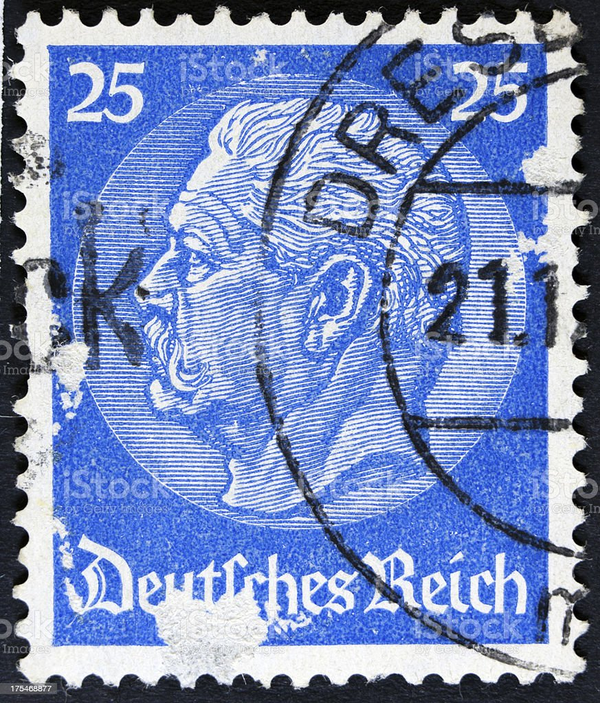Vintage German Postage Stamp royalty-free stock photo
