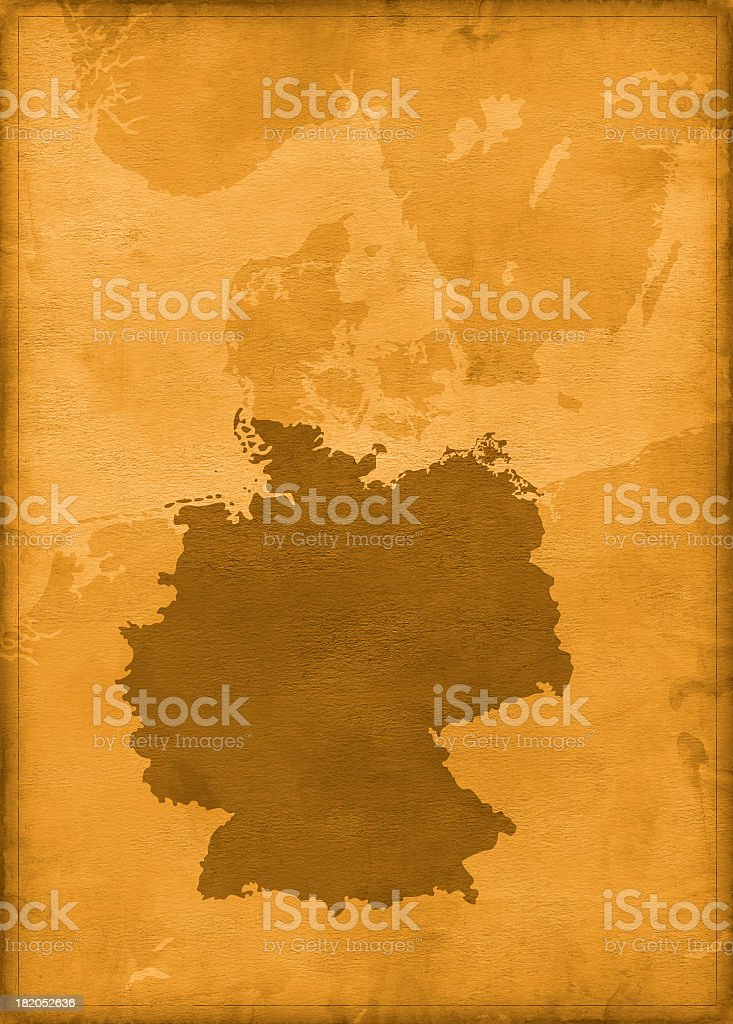 Vintage germany map royalty-free stock photo