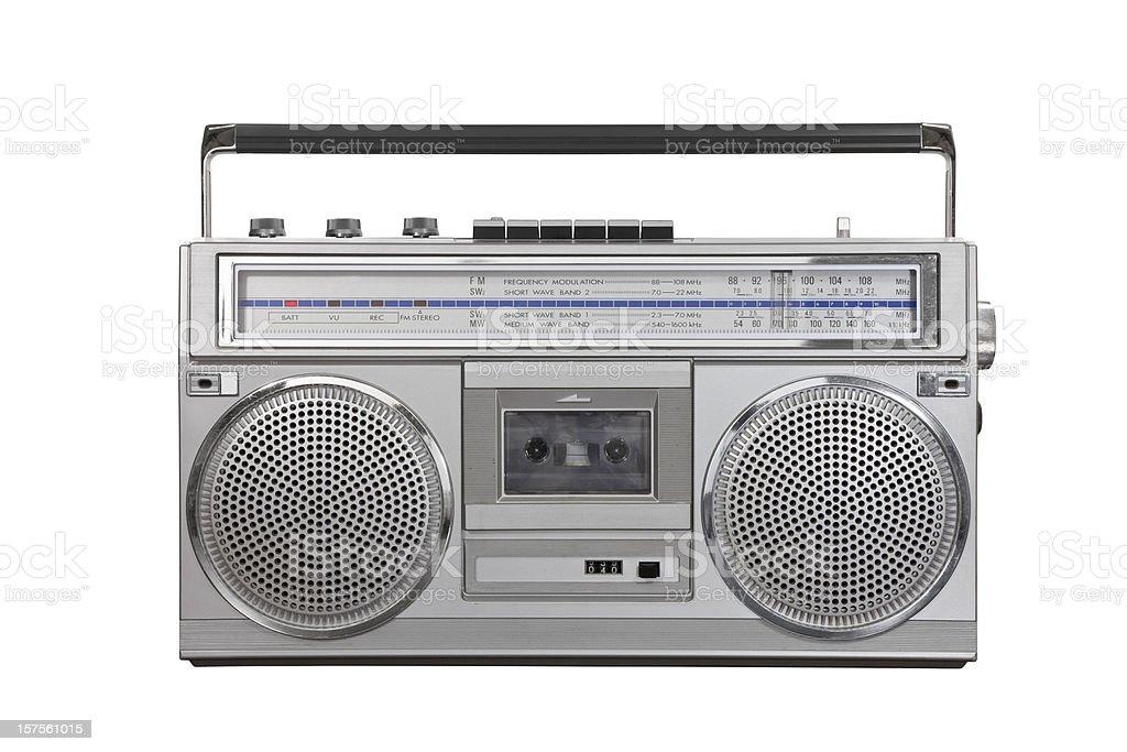 Vintage Ghetto Blaster Portable Radio Cassette stock photo
