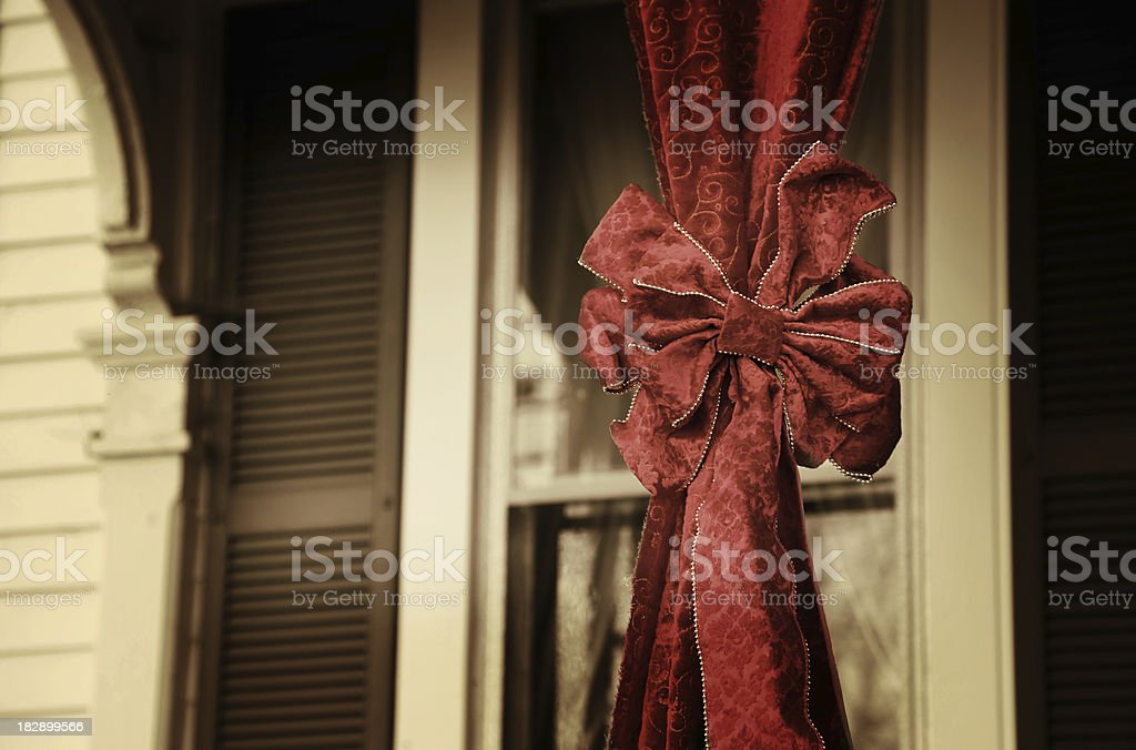 vintage gift wrapped victorian house royalty-free stock photo