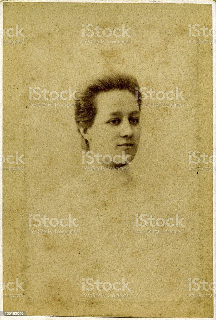 Vintage Girl. royalty-free stock photo