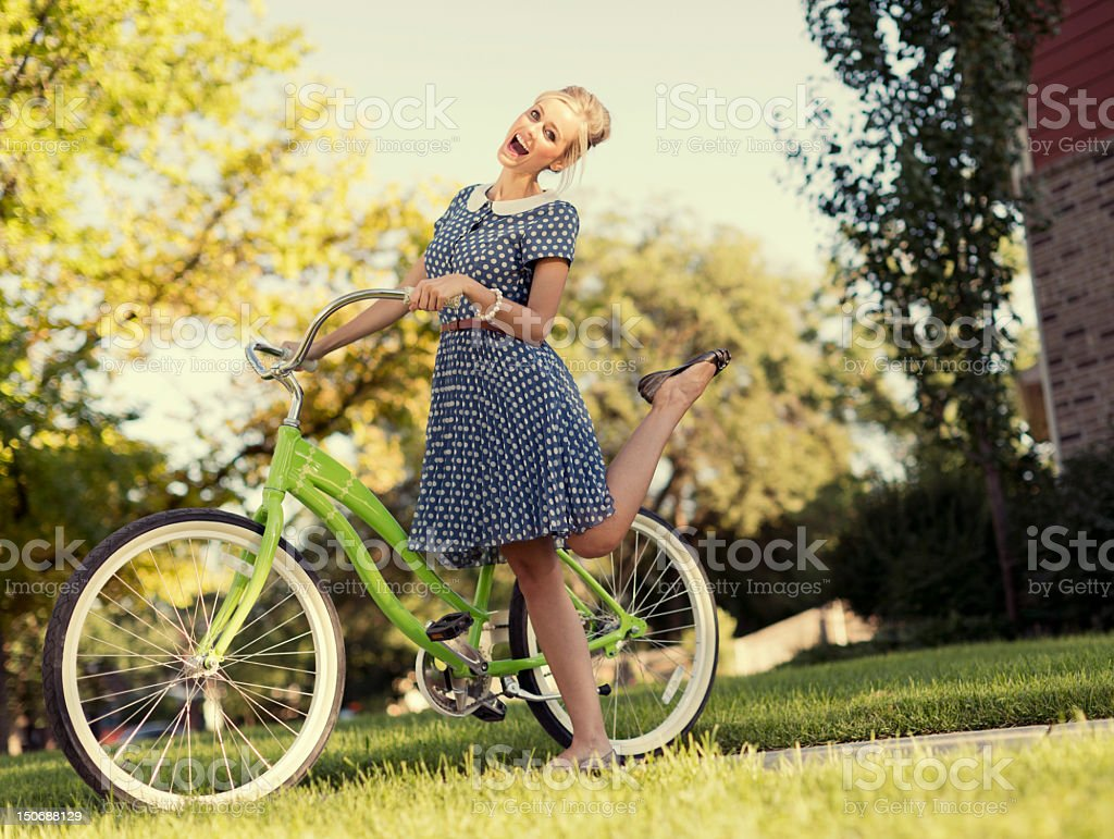 Vintage Girl stock photo