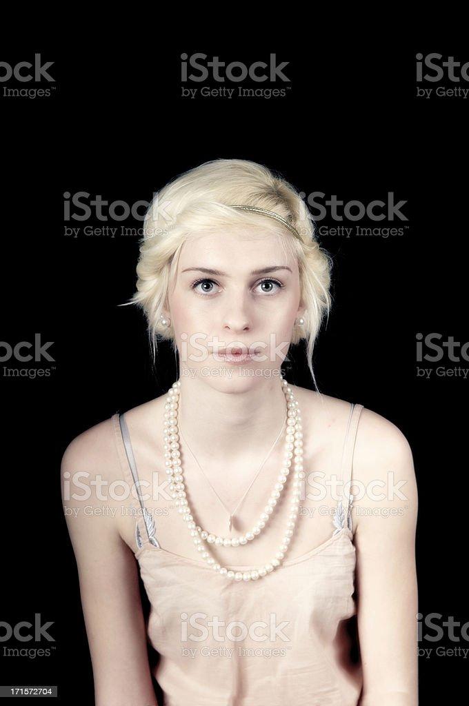 Vintage Girl royalty-free stock photo