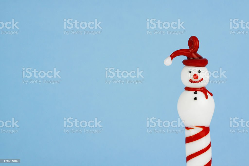 Vintage Glass Snowman Ornament royalty-free stock photo