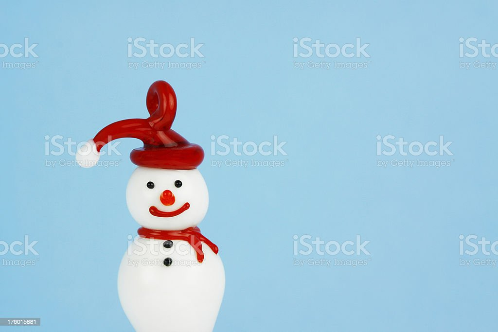 Vintage Glass Snowman Ornament royalty-free stock photo