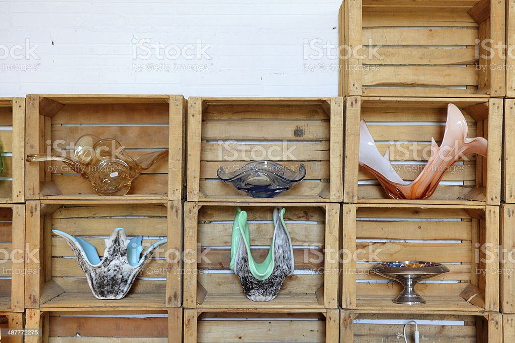 Vintage glass ware stock photo