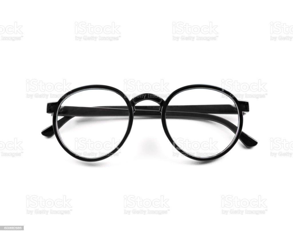 vintage glasses isolated on a white background stock photo