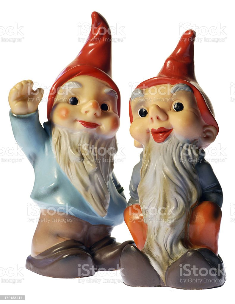 Vintage Gnomes royalty-free stock photo