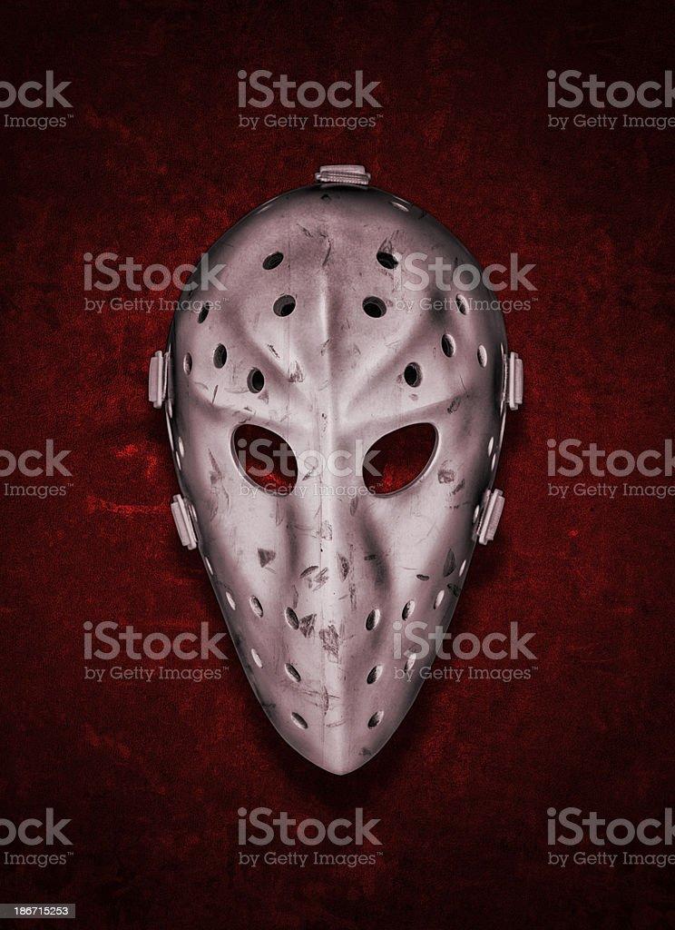 Vintage Goalie Mask royalty-free stock photo