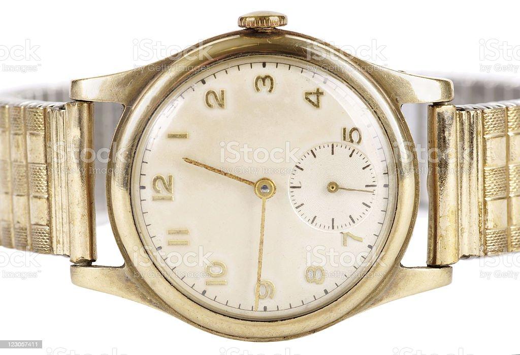Vintage Gold Mechanical Wristwatch stock photo