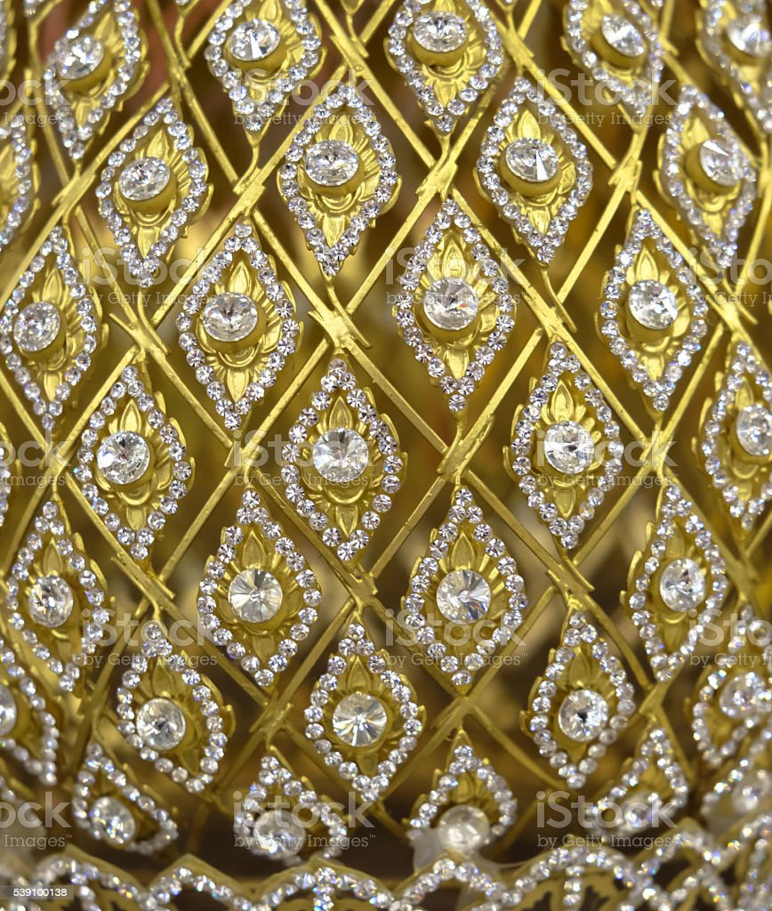 Vintage gold ornament stock photo