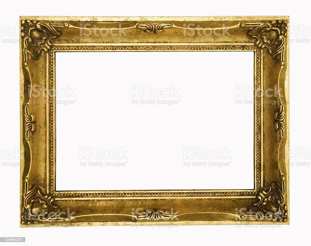 Vintage gold ornate frame royalty-free stock photo