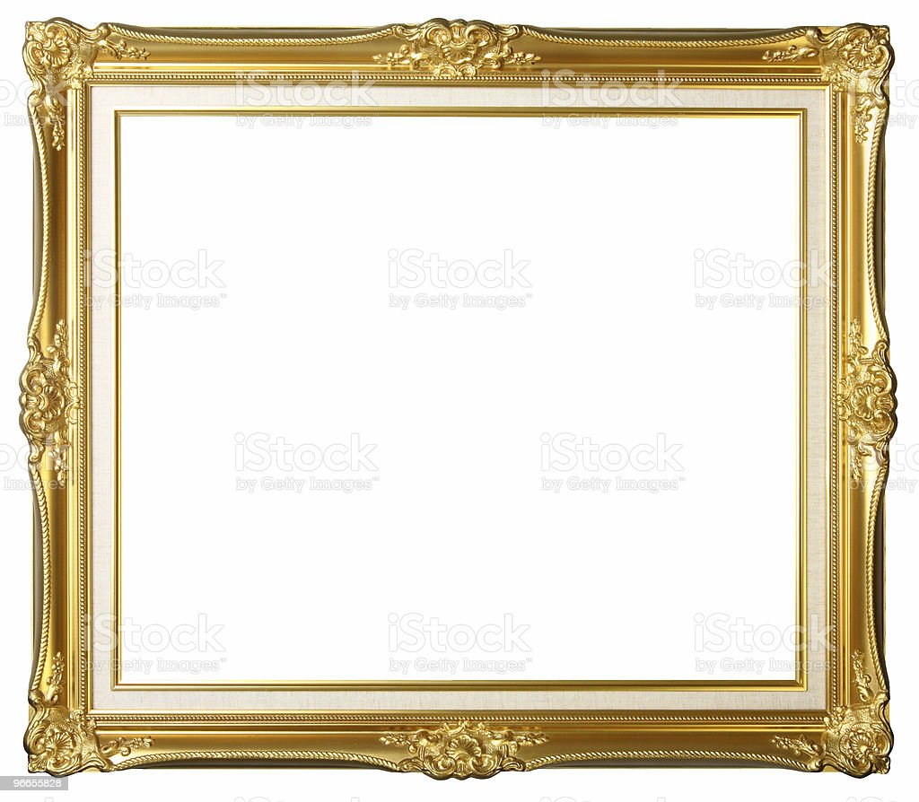 Vintage gold picture frame royalty-free stock photo