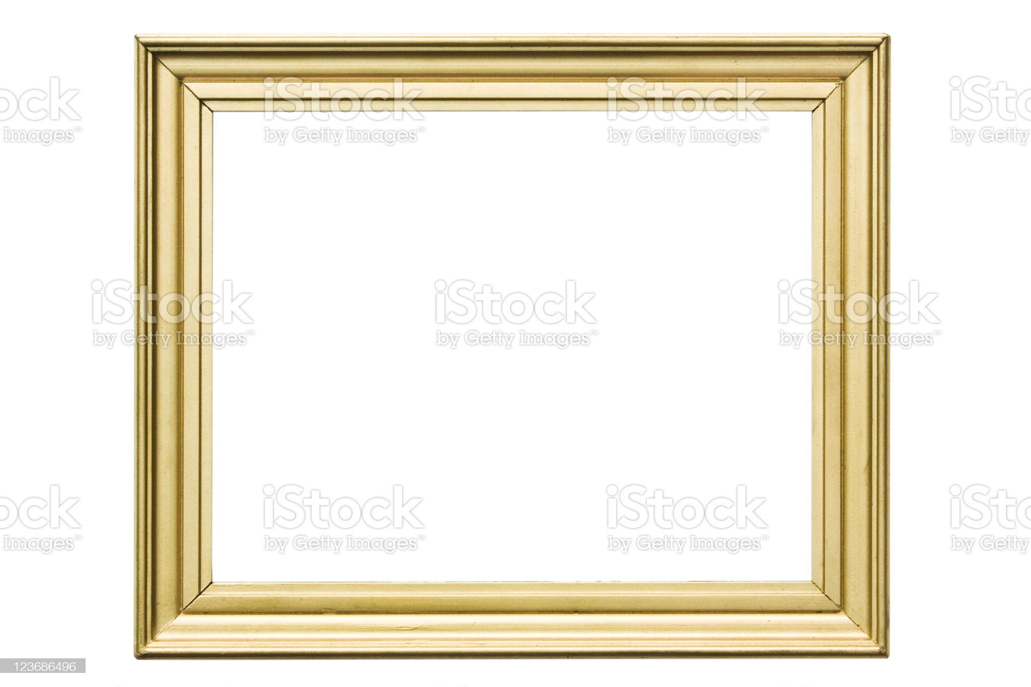 vintage golden frame royalty-free stock photo