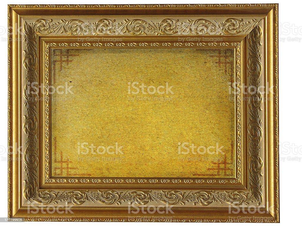 Quadro Vintage moldura dourada com vazio Pergaminho foto de stock royalty-free