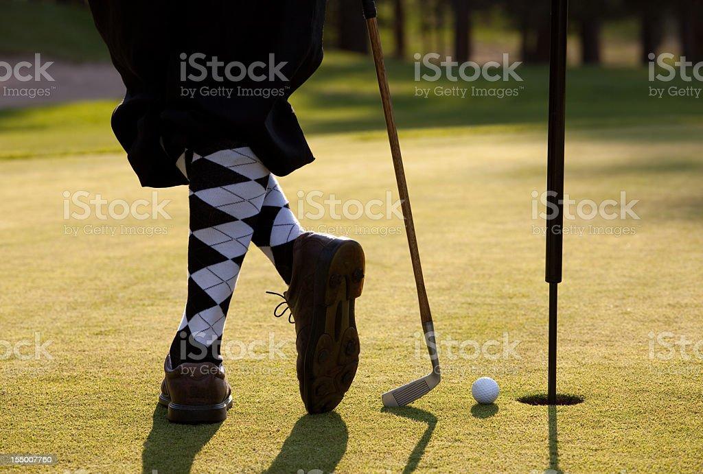 Vintage Golfer with Plus Fours Closeup on Legs stock photo