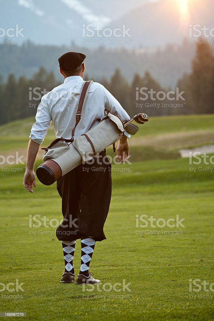 Vintage Golfer with Plus Fours royalty-free stock photo