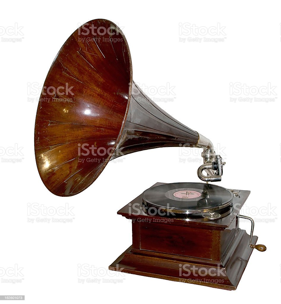 vintage gramophone royalty-free stock photo