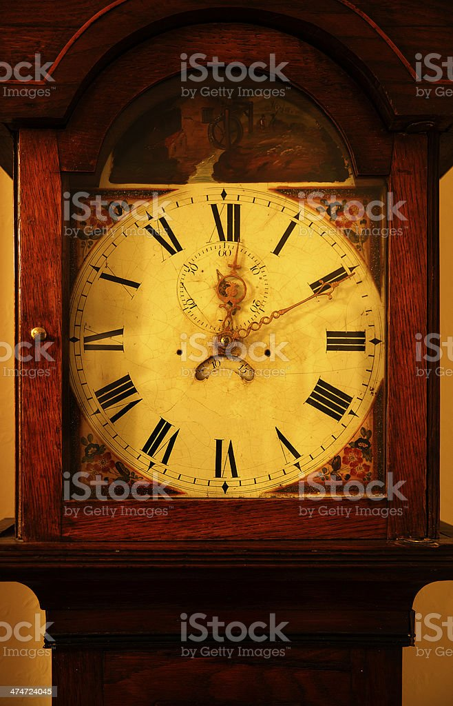 Vintage Grandfather Clock stock photo
