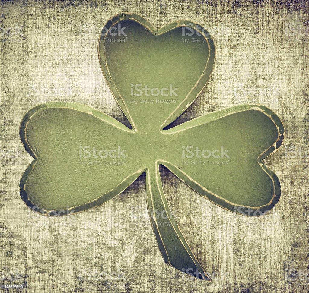 Vintage green shamrock royalty-free stock photo