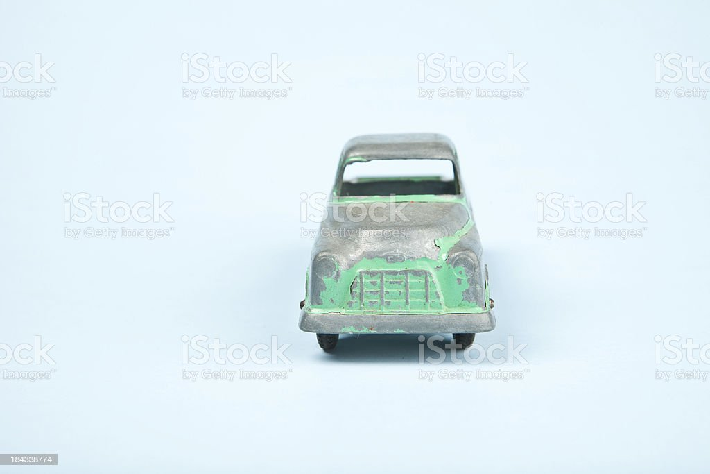 Vintage Green Truck on Blue royalty-free stock photo