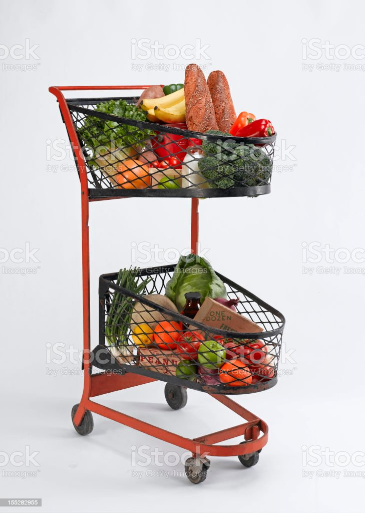 Vintage Grocery Cart stock photo