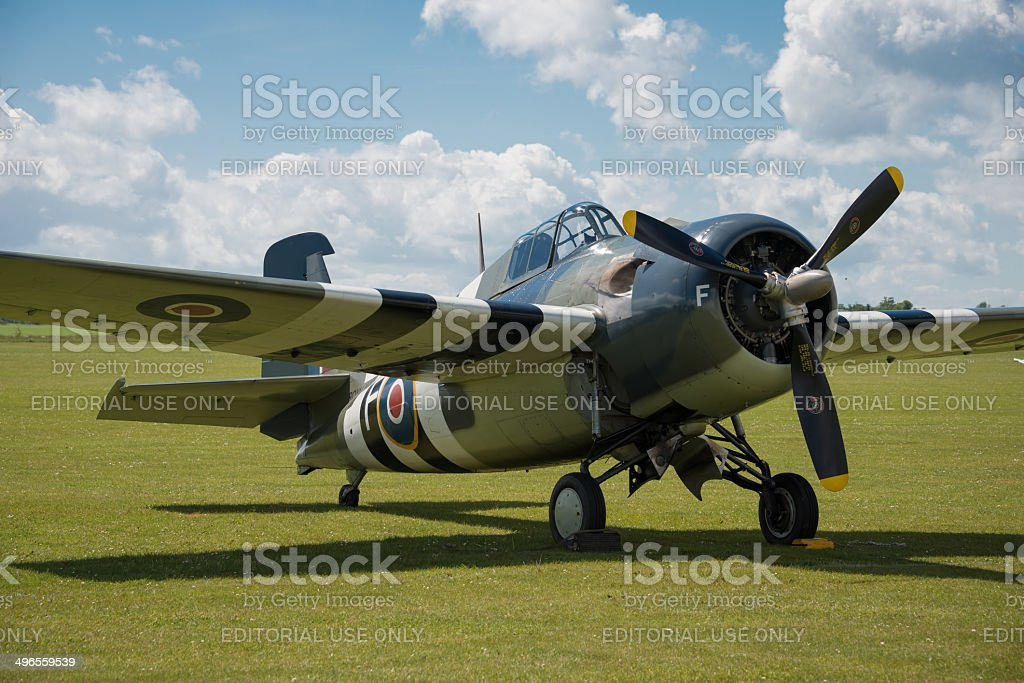 Vintage Grumman Wildcat fighter stock photo