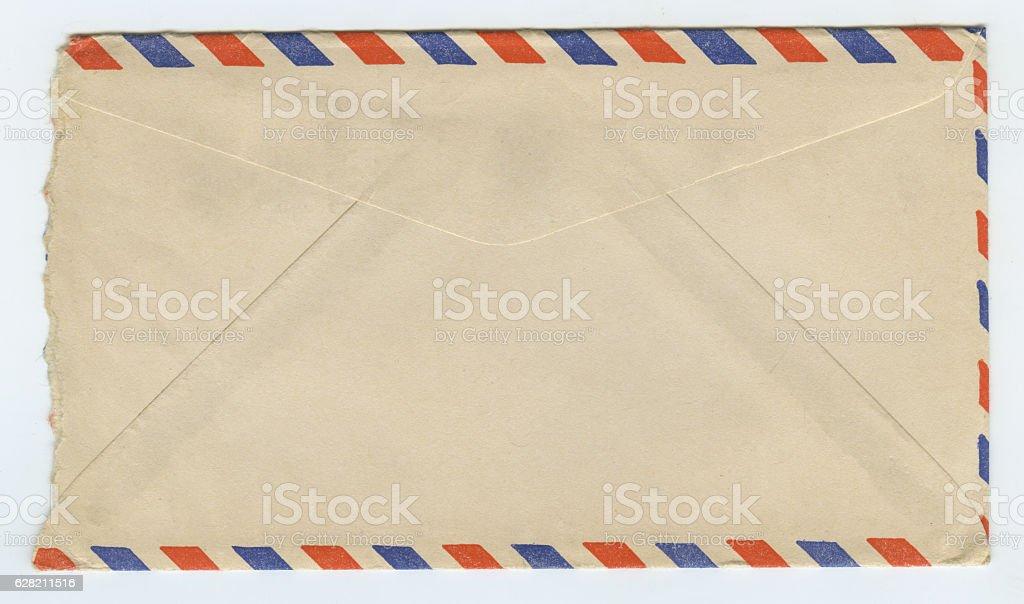 Vintage Grunge Air Mail Letter Envelope stock photo