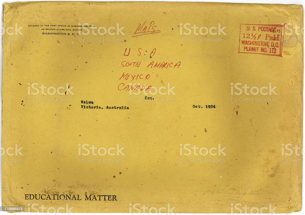 Vintage Grunge Envelope stock photo