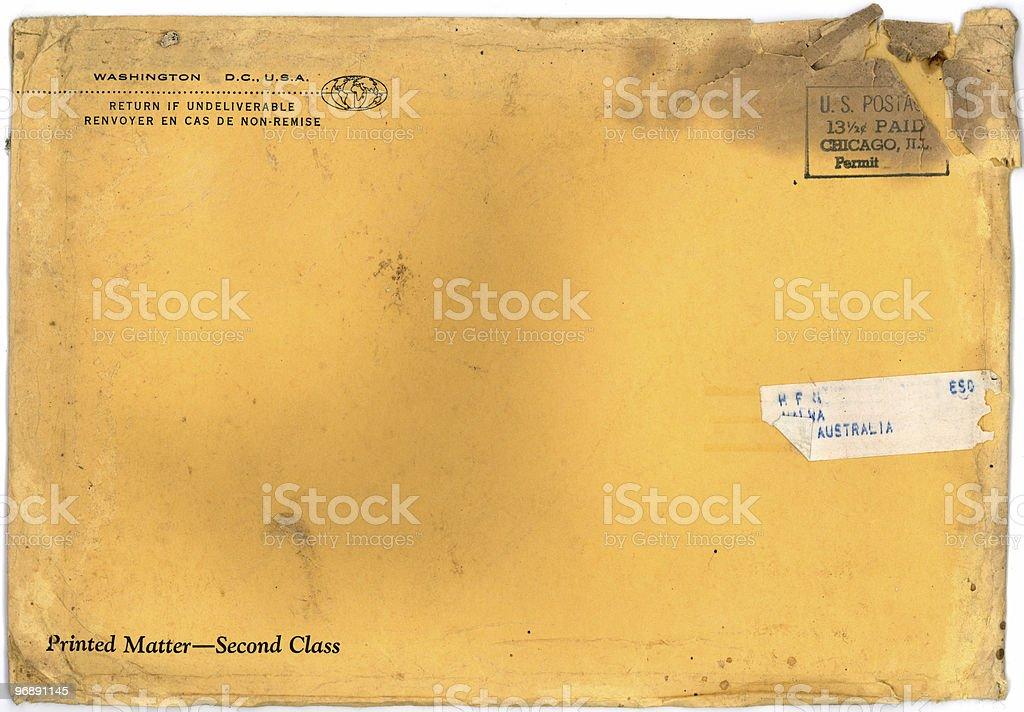 Vintage Grunge Envelope royalty-free stock photo