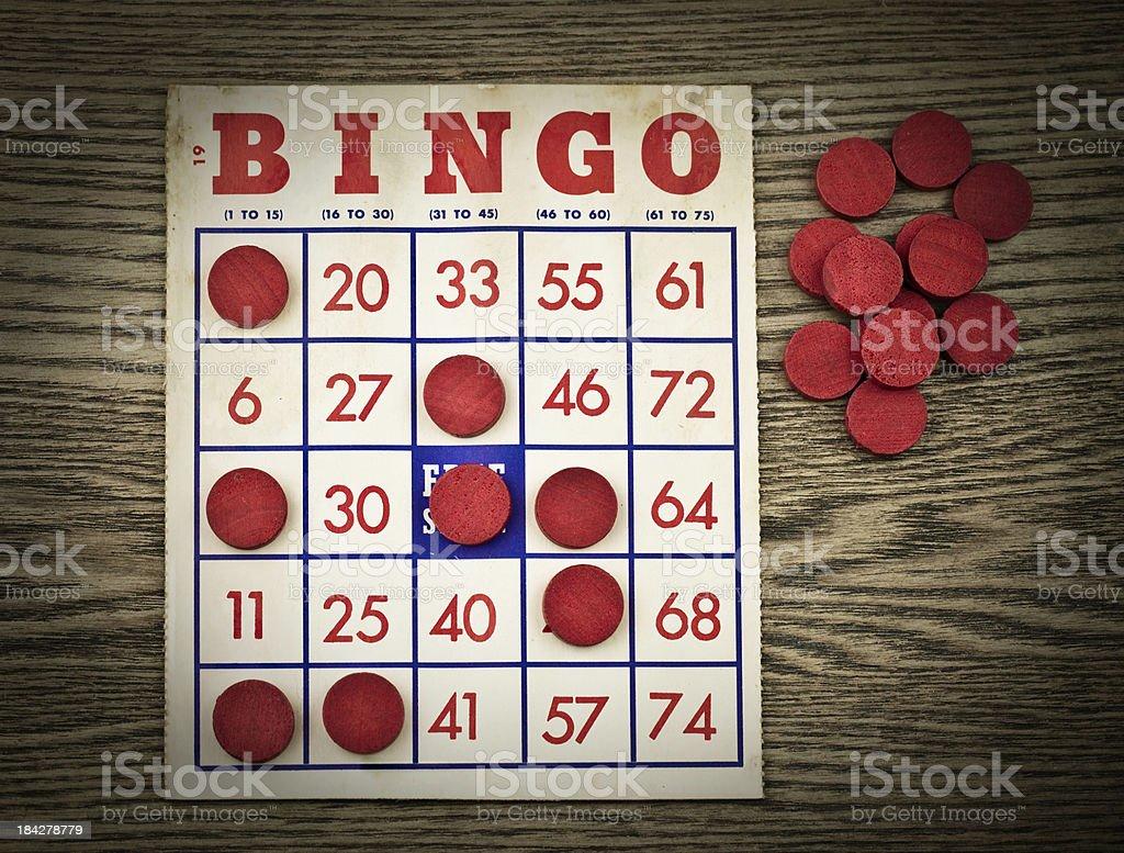 Vintage Grungy Bingo Card royalty-free stock photo