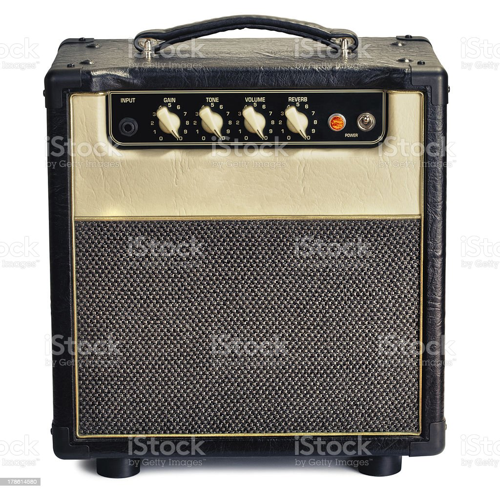 Vintage Guitar Amplifier stock photo